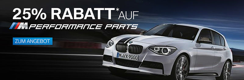 25% Rabatt* auf M-Performance Parts